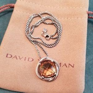 DAVID YURMAN Morganite Infinity Necklace